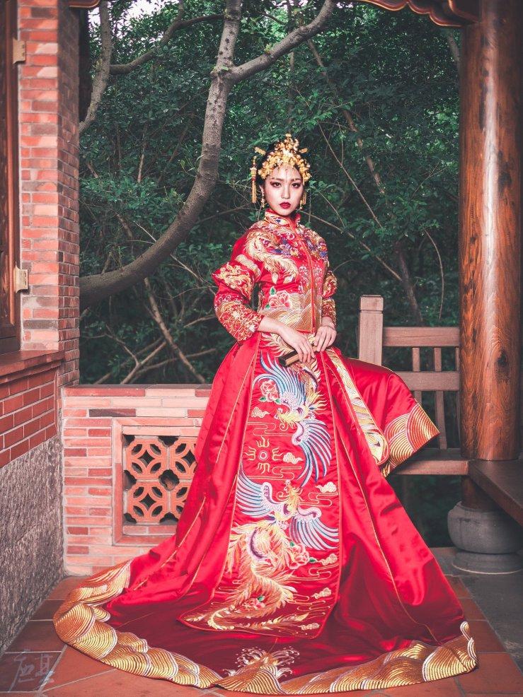 秀禾服,龍鳳褂,中式禮服,中式婚紗,禮服出租,手工禮服